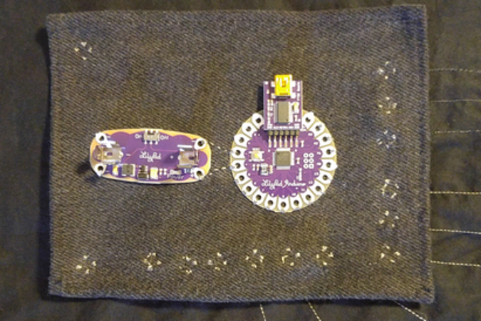 Example electronic quilt component